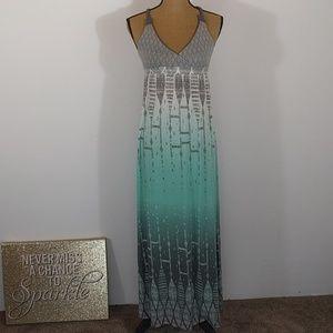 Mudd Empire Waisted Criss Cross Maxi Dress Sz S